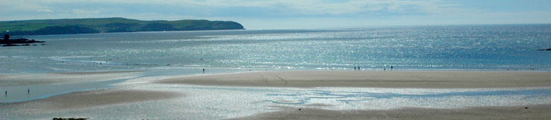 Bantham Beach within easy reach of holiday cottages